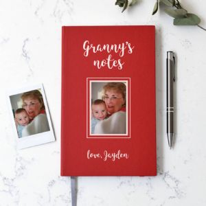 Personalised Photo Red Notebook